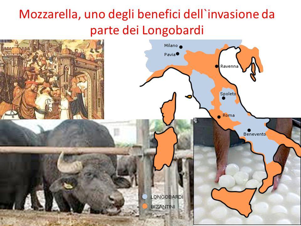 Mozzarella, uno degli benefici dell`invasione da parte dei Longobardi