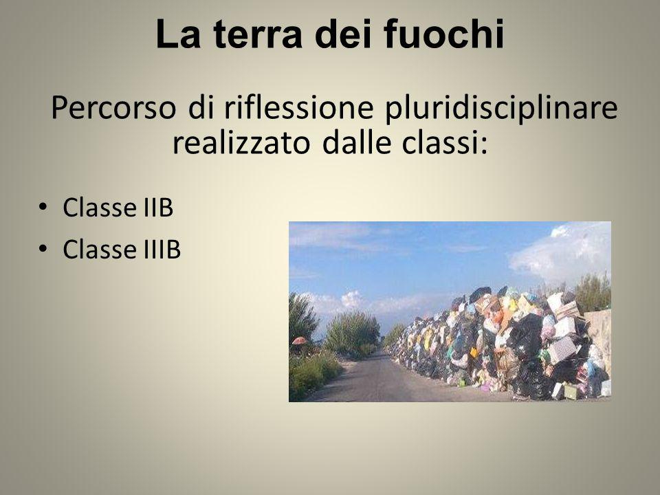 Classe IIB Classe IIIB La terra dei fuochi Percorso di riflessione pluridisciplinare realizzato dalle classi: