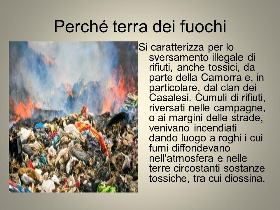 Perché terra dei fuochi Si caratterizza per lo sversamento illegale di rifiuti, anche tossici, da parte della Camorra e, in particolare, dal clan dei