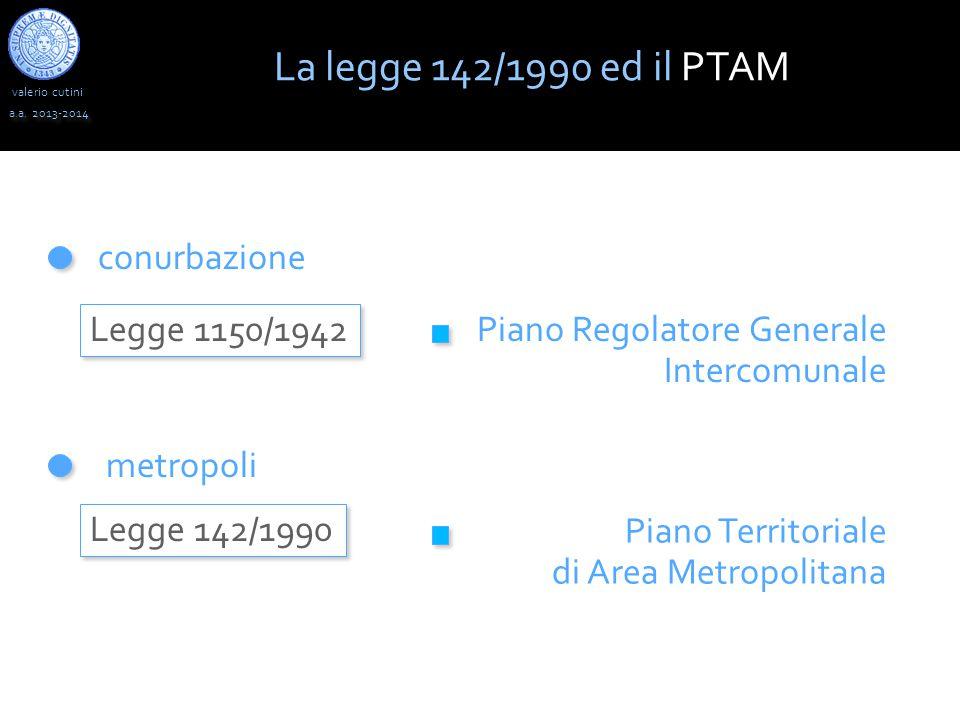valerio cutini La legge 142/1990 ed il PTAM a.a.