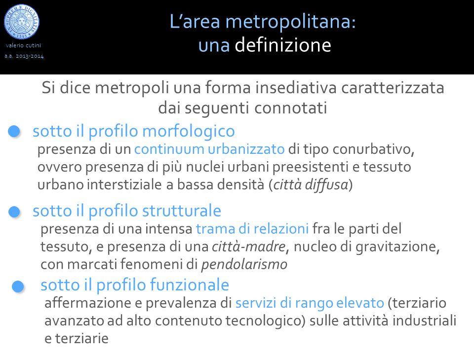 valerio cutini L'area metropolitana: una definizione a.a.
