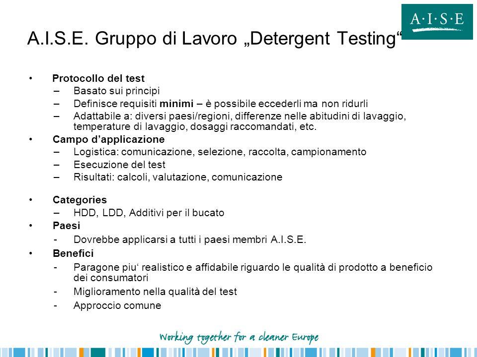 Protocollo del test –Basato sui principi –Definisce requisiti minimi – è possibile eccederli ma non ridurli –Adattabile a: diversi paesi/regioni, diff