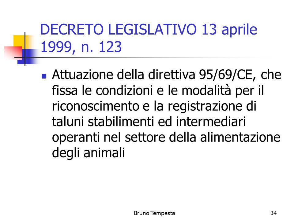 Bruno Tempesta34 DECRETO LEGISLATIVO 13 aprile 1999, n.