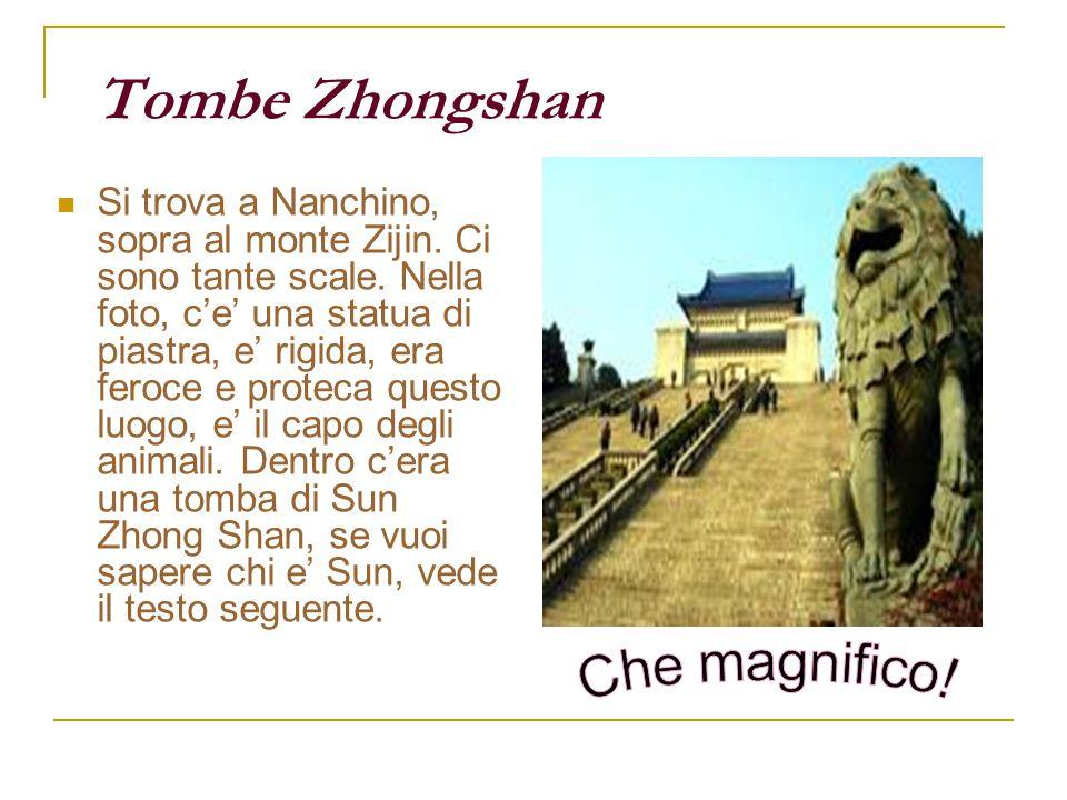 Tombe Zhongshan Si trova a Nanchino, sopra al monte Zijin. Ci sono tante scale. Nella foto, c'e' una statua di piastra, e' rigida, era feroce e protec