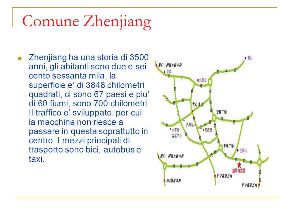 Comune Zhenjiang Zhenjiang ha una storia di 3500 anni, gli abitanti sono due e sei cento sessanta mila, la superficie e' di 3848 chilometri quadrati,
