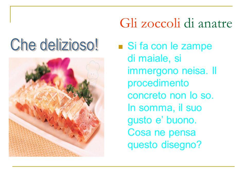 Ingredienti: sangue di anatre, spaghetti di riso, prezzemolo, salsa piccante, ecc.