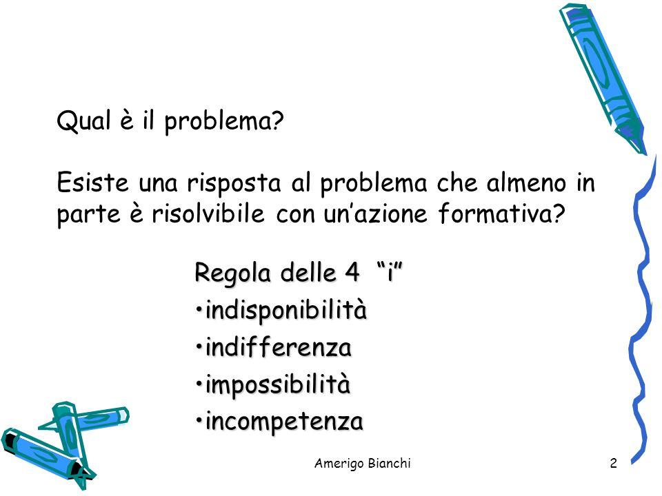 Amerigo Bianchi2 Qual è il problema.