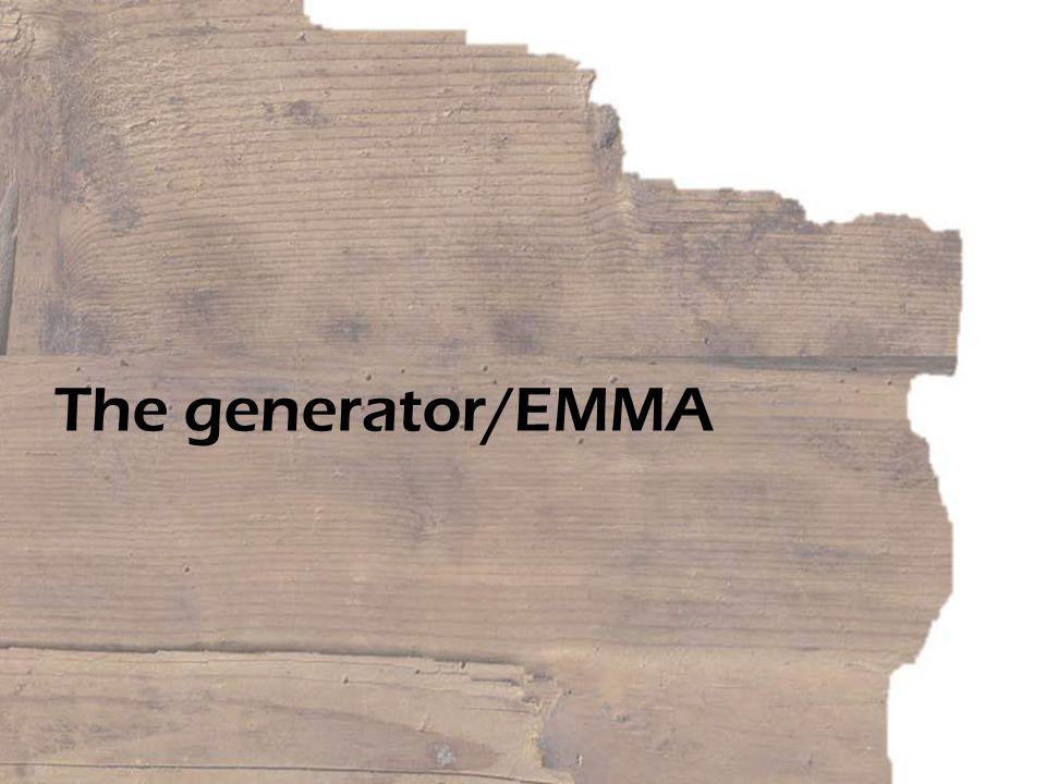 The generator/EMMA