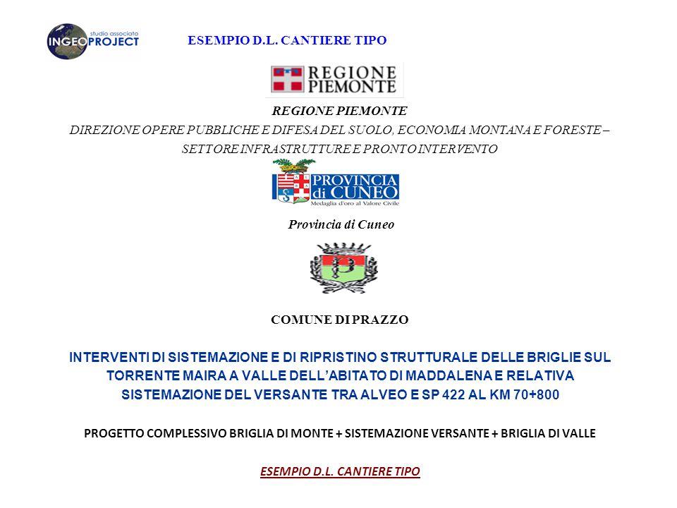 ESEMPIO D.L.CANTIERE TIPO CAPITOLATO SPECIALE D'APPALTO (art.