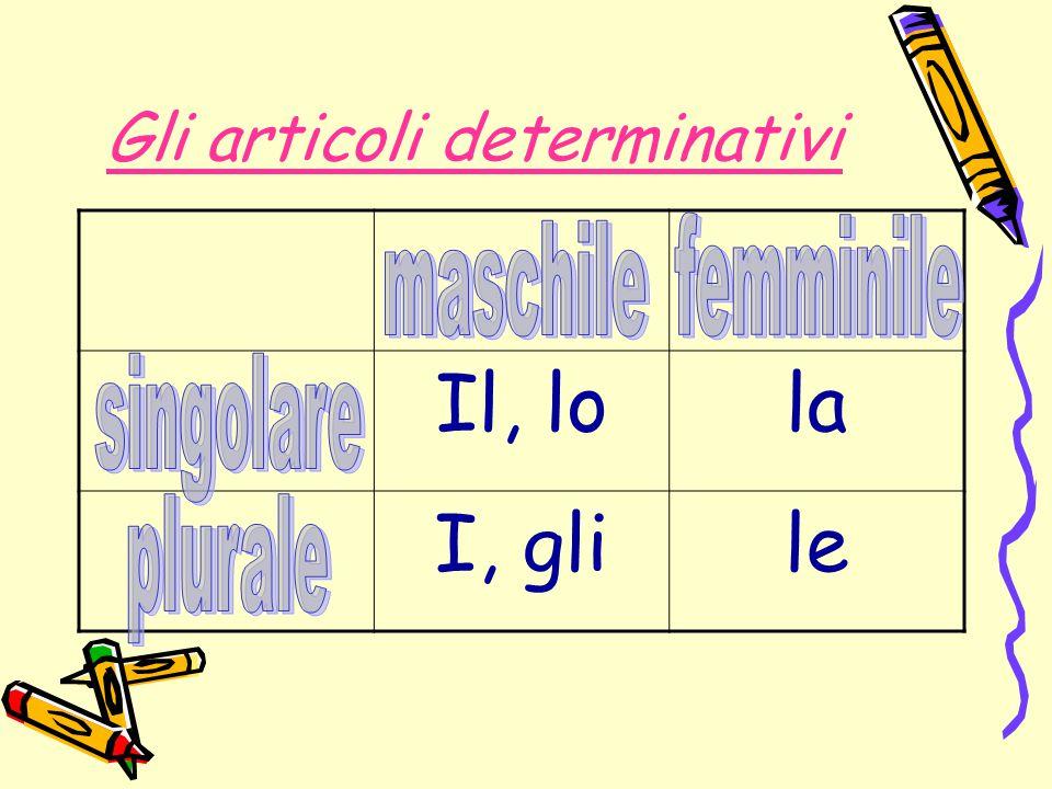 N°8.Completa con gli articoli determinativi al plurale.