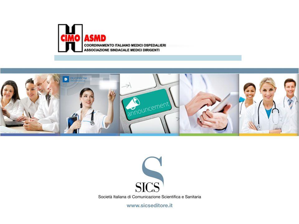 Sondaggio CIMO ASMD, maggio 2014 TargetNumeriche Medico Ospedaliero93.229 Continuità Assistenziale2.395 Medicina Territoriale3.669 Medico in Casa di Cura7.162 Totale Target (*)106455 Popolazione (*)103.588