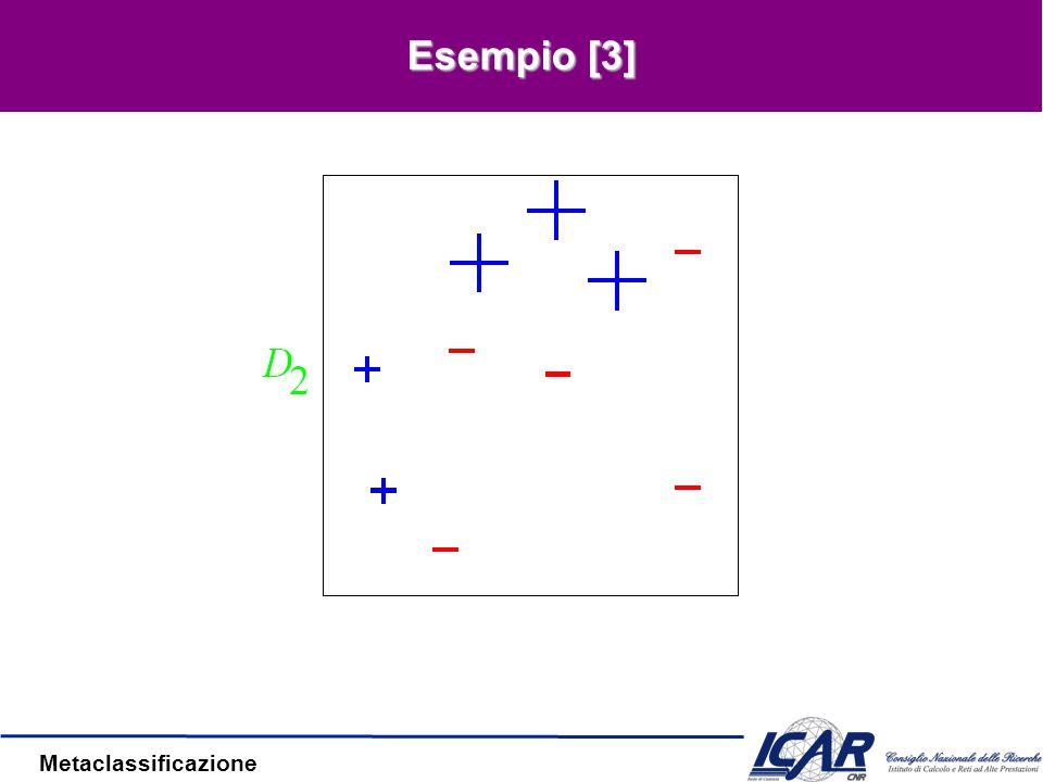Metaclassificazione Esempio [2] E 1 = 0.3  1 =0.42
