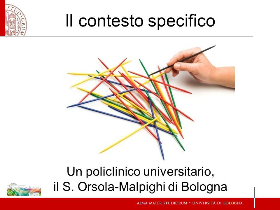 Il contesto specifico Un policlinico universitario, il S. Orsola-Malpighi di Bologna