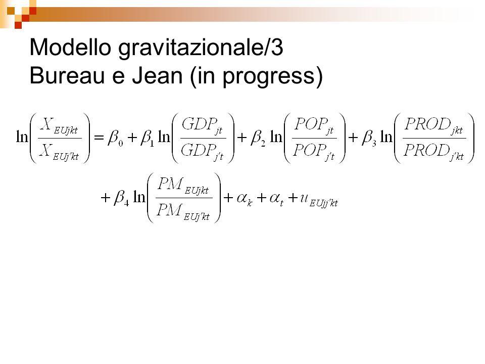 Modello gravitazionale/3 Bureau e Jean (in progress)
