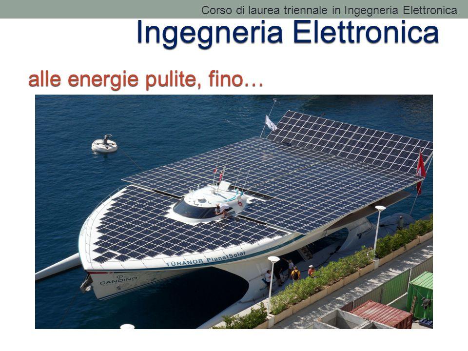 Ingegneria Elettronica alle energie pulite, fino… Corso di laurea triennale in Ingegneria Elettronica