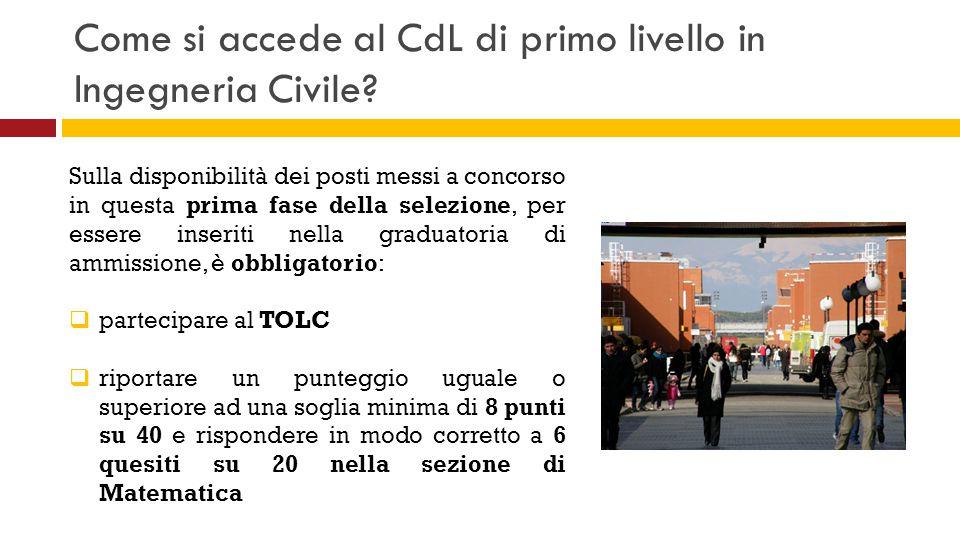 Come si accede al CdL di primo livello in Ingegneria Civile? Sulla disponibilità dei posti messi a concorso in questa prima fase della selezione, per