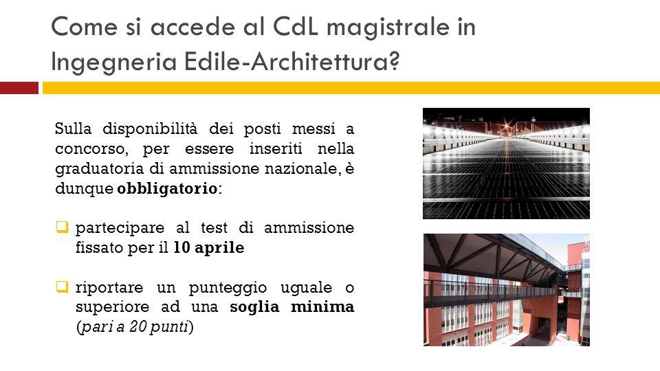 Come si accede al CdL magistrale in Ingegneria Edile-Architettura? Sulla disponibilità dei posti messi a concorso, per essere inseriti nella graduator