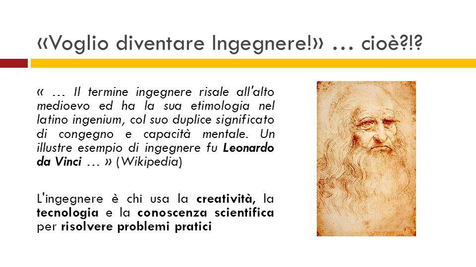 «Voglio diventare Ingegnere!» … cioè?!? « … Il termine ingegnere risale all'alto medioevo ed ha la sua etimologia nel latino ingenium, col suo duplice