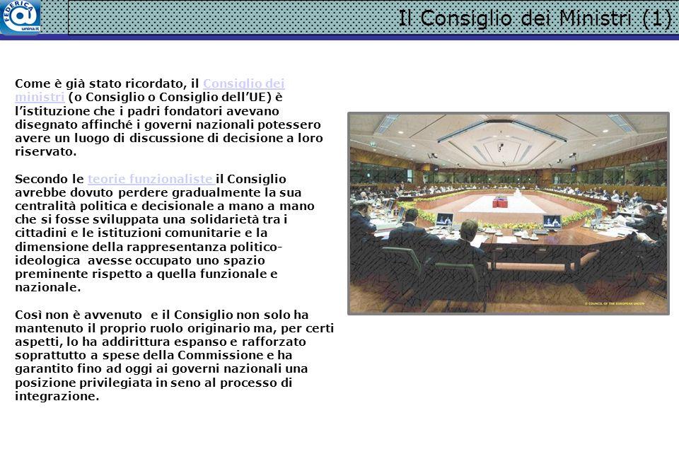 LO SVOLGIMENTO DELL ATTIVITA LEGISLATIVA (5) Il voto a maggioranza qualificata (VMQ) è oggi applicabile a molte decisioni del Consiglio.