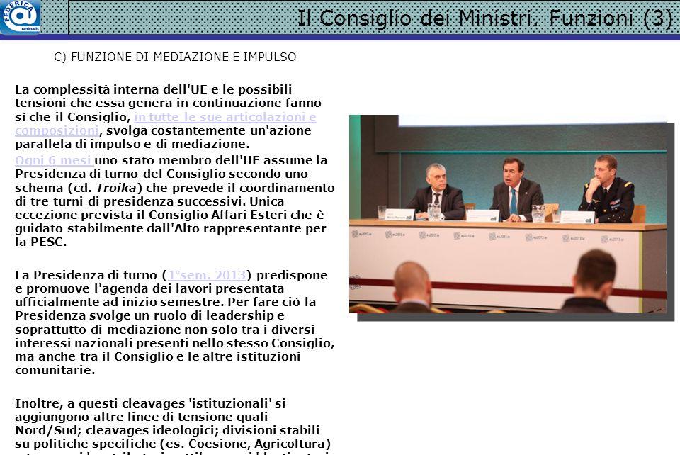 Il Consiglio dei Ministri.