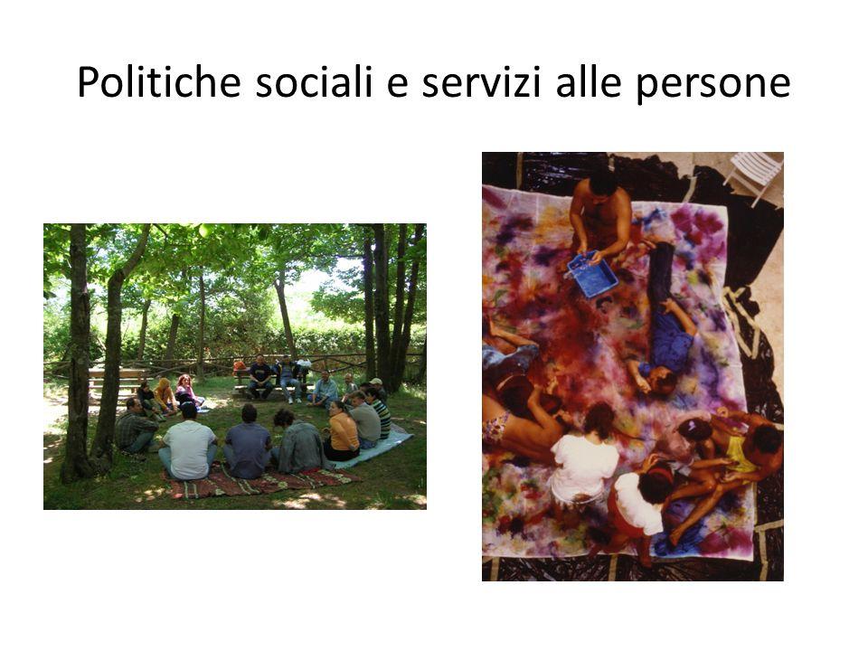 Politiche sociali e servizi alle persone