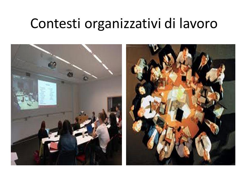 Contesti organizzativi di lavoro