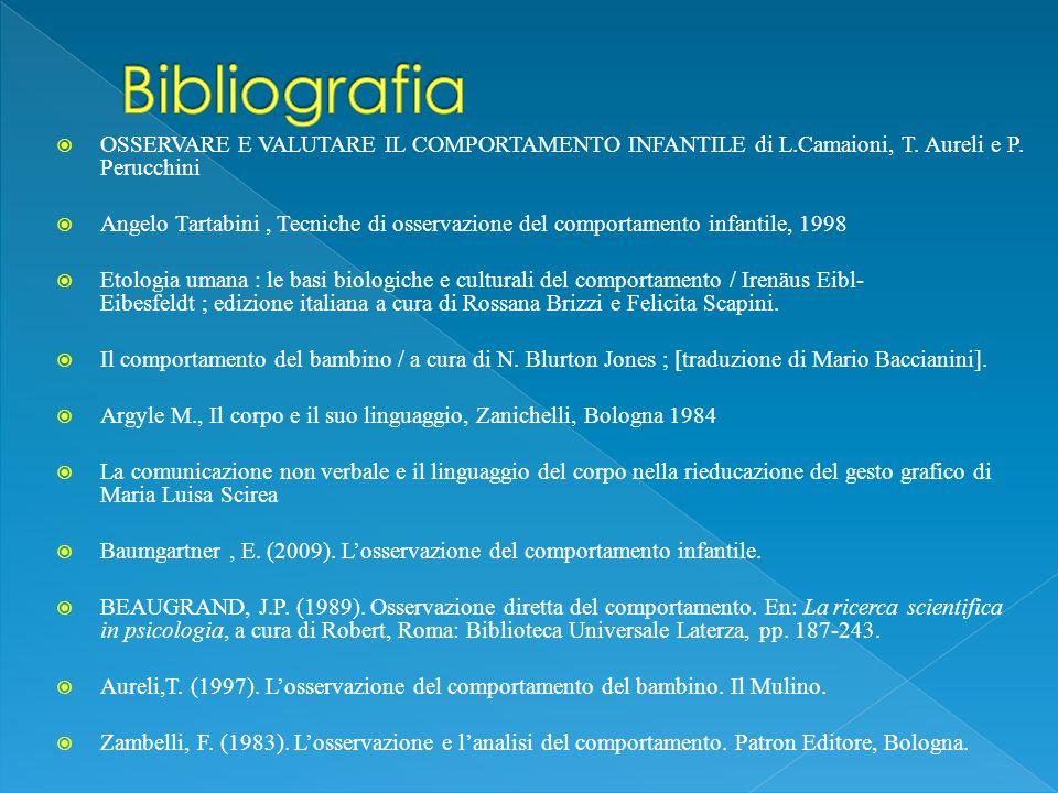  OSSERVARE E VALUTARE IL COMPORTAMENTO INFANTILE di L.Camaioni, T.