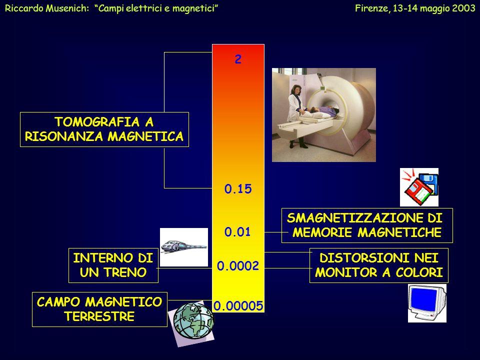 "CAMPI MAGNETICI STATICI Riccardo Musenich: ""Campi elettrici e magnetici"" Firenze, 13-14 maggio 2003"