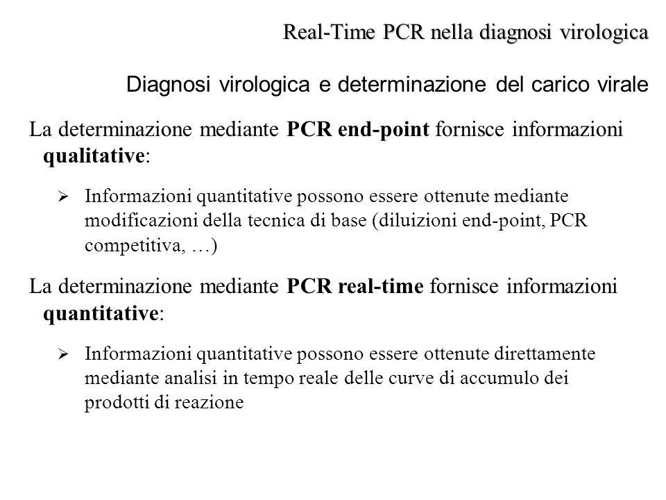 La determinazione mediante PCR end-point fornisce informazioni qualitative:  Informazioni quantitative possono essere ottenute mediante modificazioni