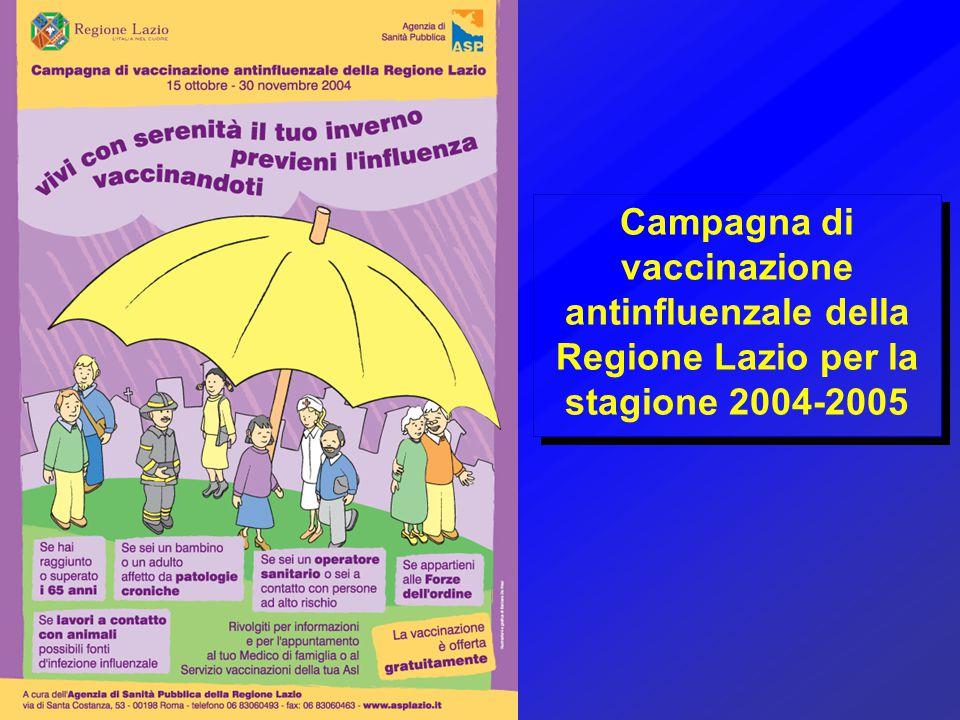 Campagna di vaccinazione antinfluenzale della Regione Lazio per la stagione 2004-2005