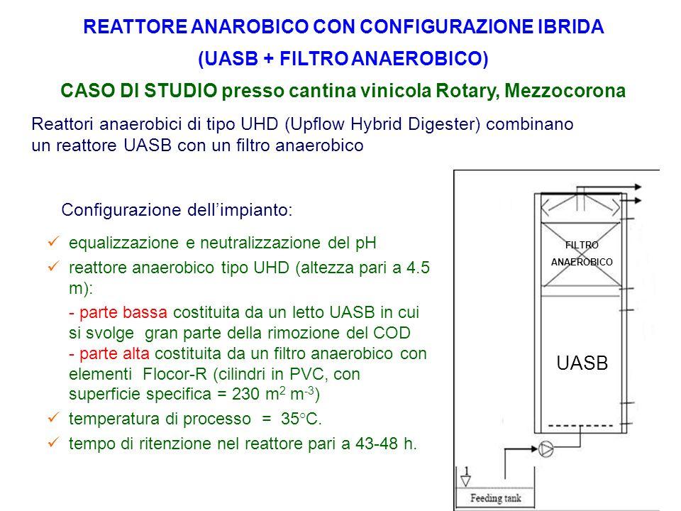 Reattori anaerobici di tipo UHD (Upflow Hybrid Digester) combinano un reattore UASB con un filtro anaerobico Configurazione dell'impianto: equalizzazi