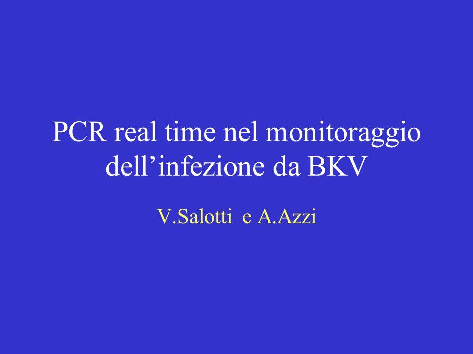 PCR real time nel monitoraggio dell'infezione da BKV V.Salotti e A.Azzi