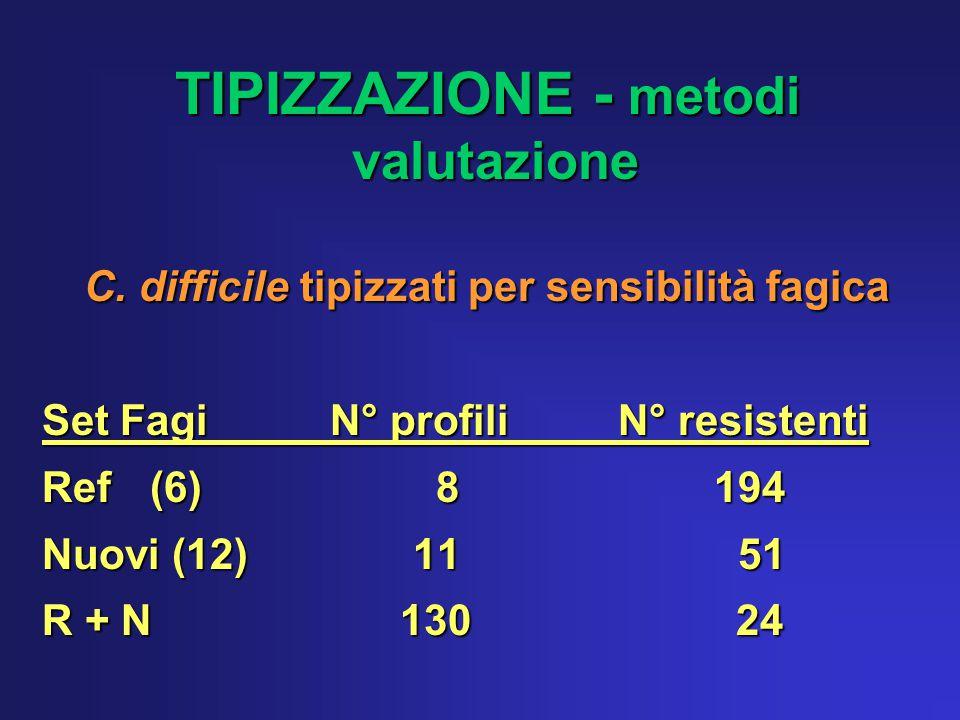 TIPIZZAZIONE - metodi valutazione TIPIZZAZIONE - metodi valutazione C.