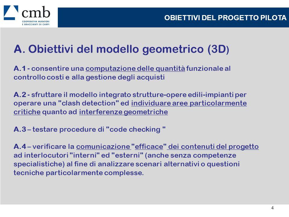 5 OBIETTIVI DEL PROGETTO PILOTA B.