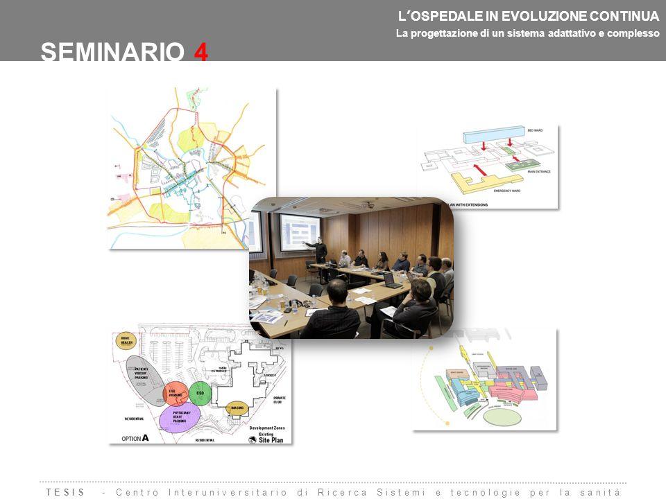L'OSPEDALE IN EVOLUZIONE CONTINUA La progettazione di un sistema adattativo e complesso SEMINARIO 4 Sessione mattutinaSessione pomeridiana Interventi  Prof.