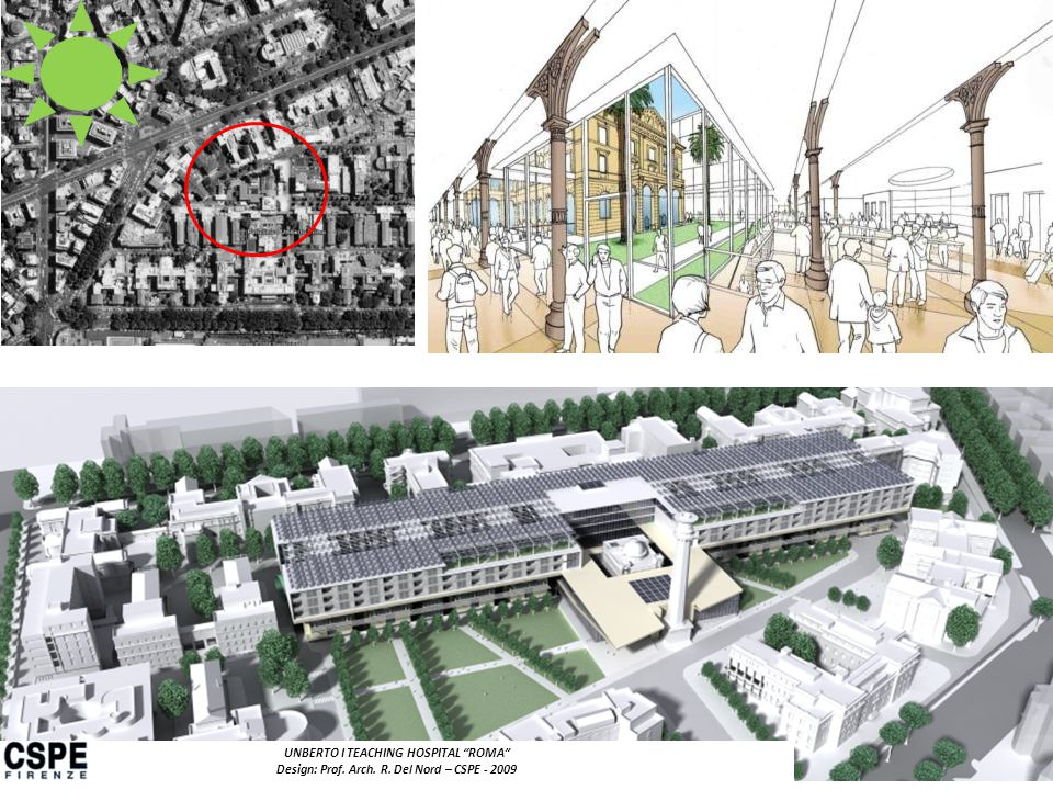 UNBERTO I TEACHING HOSPITAL ROMA Design: Prof. Arch. R. Del Nord – CSPE - 2009