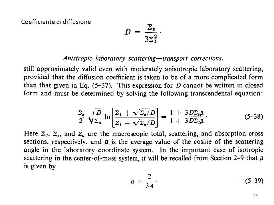 Coefficiente di diffusione 26