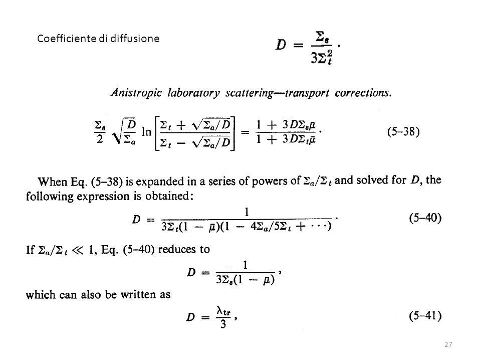 Coefficiente di diffusione 27