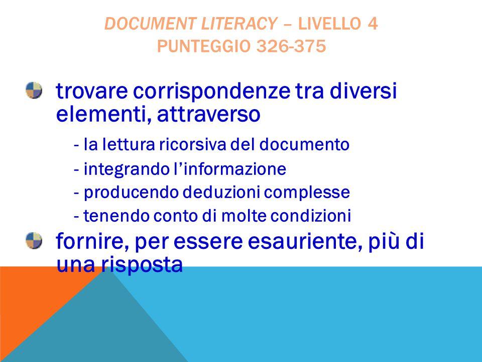 trovare corrispondenze tra diversi elementi, attraverso - la lettura ricorsiva del documento - integrando l'informazione - producendo deduzioni comple