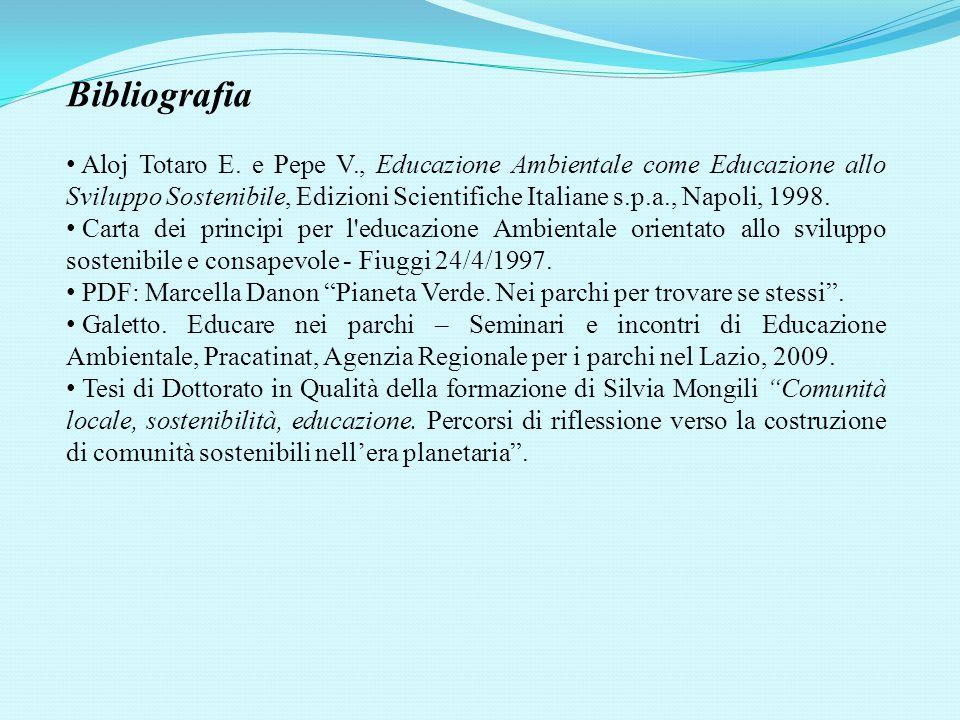 Bibliografia Aloj Totaro E.