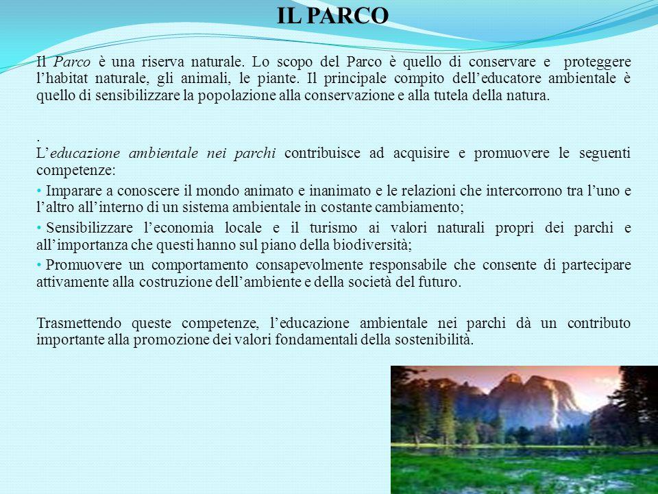 IL PARCO Il Parco è una riserva naturale.
