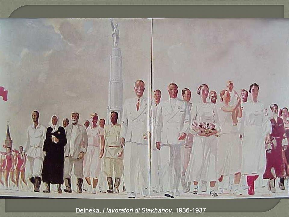 Deineka, I lavoratori di Stakhanov, 1936-1937