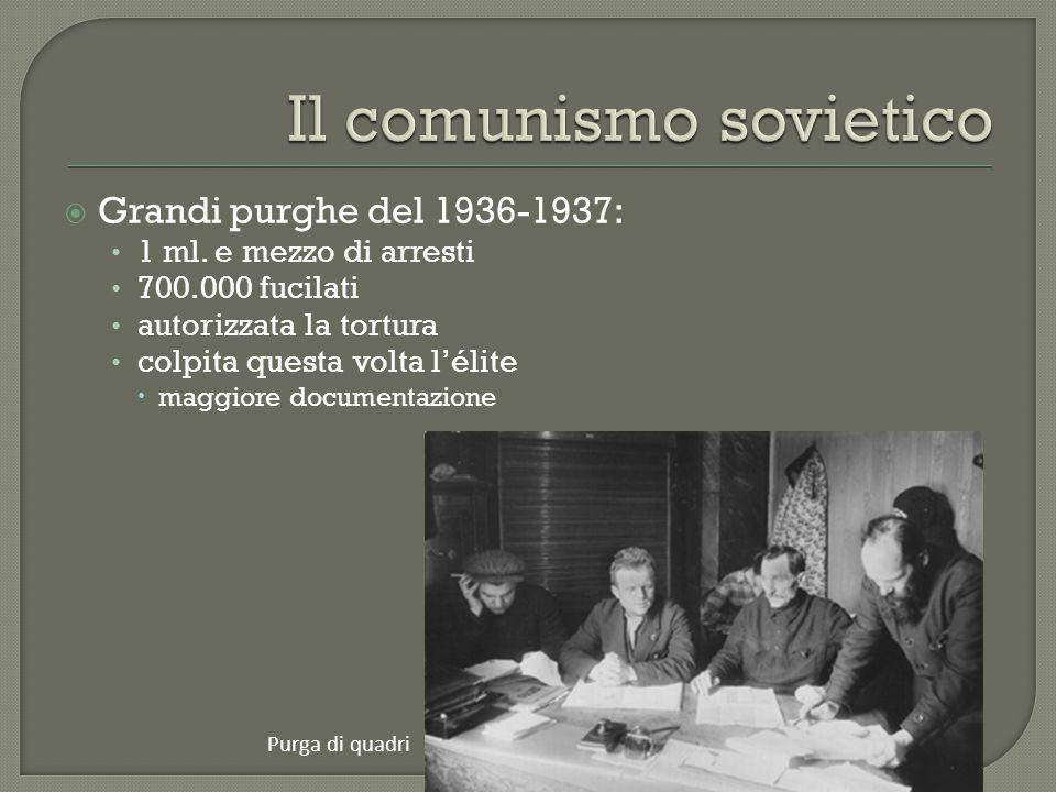  Grandi purghe del 1936-1937: 1 ml.
