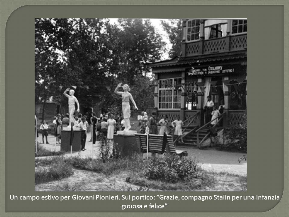 Un campo estivo per Giovani Pionieri.