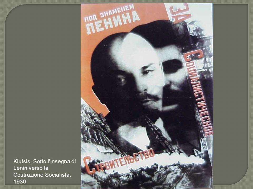 Klutsis, Sotto l'insegna di Lenin verso la Costruzione Socialista, 1930