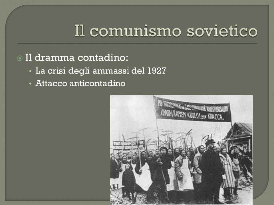  Il dramma contadino: La crisi degli ammassi del 1927 Attacco anticontadino