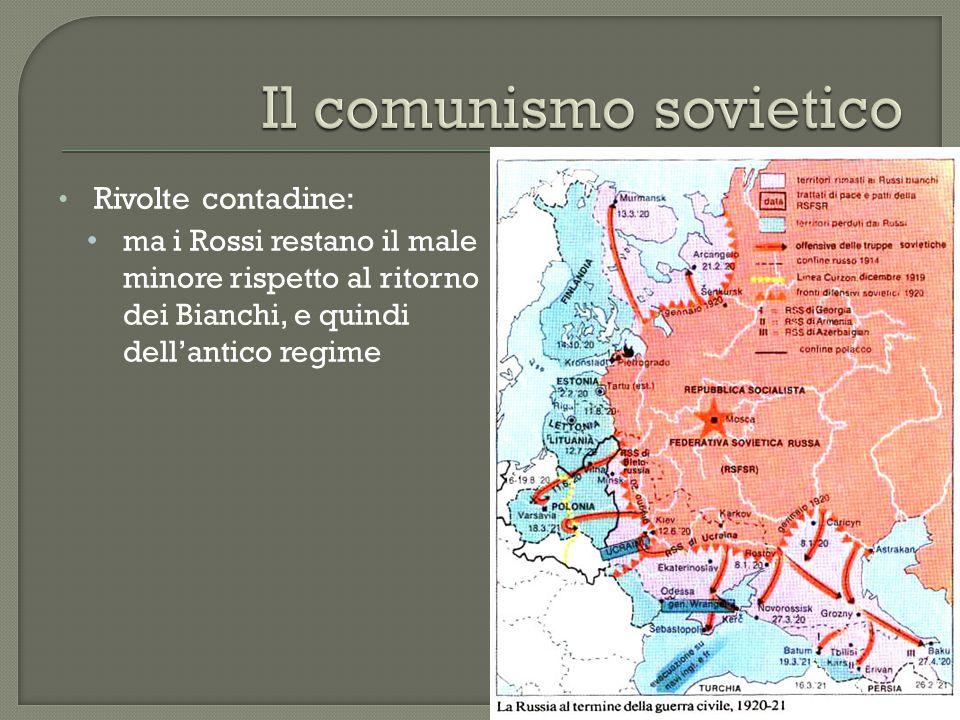Comunismo di guerra:  Supremazia dello Stato  Lotta al mercato  Mercato nero  Illegalità  Militarizzazione:  lavoro forzato  Coercizione e violenza come strumenti comunisti  decosacchizzazione