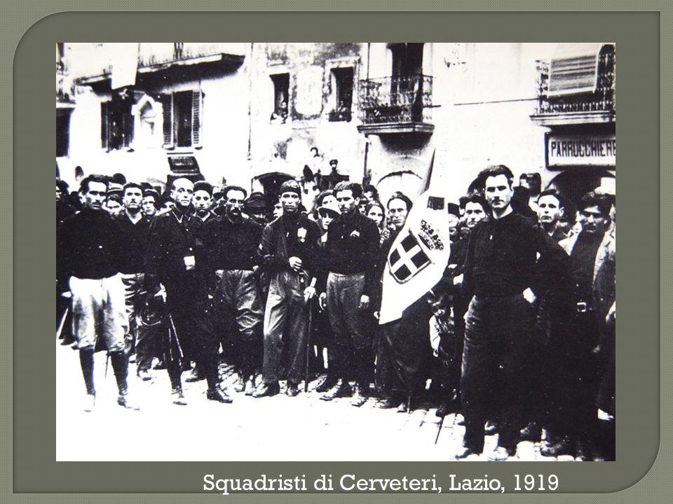 Squadristi di Cerveteri, Lazio, 1919