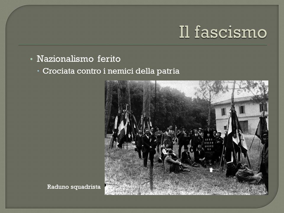 Nazionalismo ferito  Crociata contro i nemici della patria Raduno squadrista