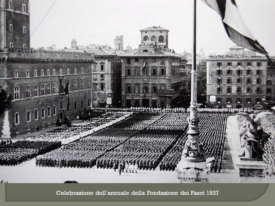 Celebrazione dell'annuale della Fondazione dei Fasci 1937